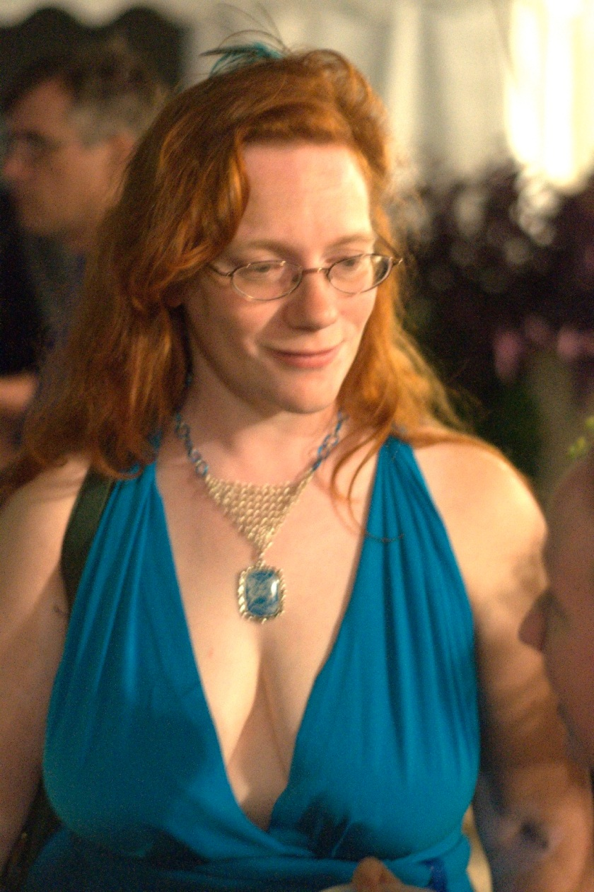 Blue dress at LibertyCon