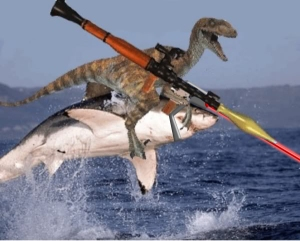 Raptor shark laser
