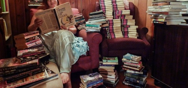 Readers with books