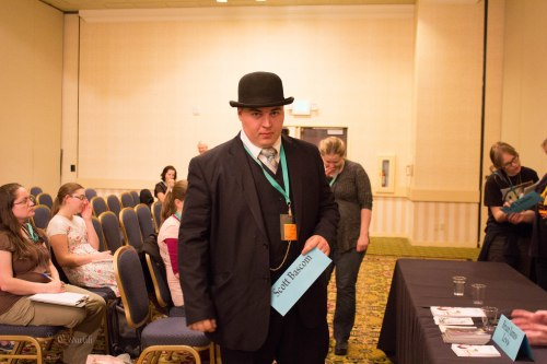 Toad, the dapper man about the con.