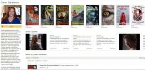 Author page front end