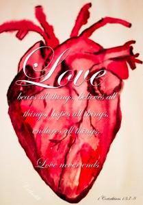 Human heart painting