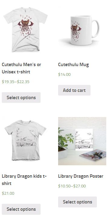 Here's a few things from my shop, on Printful mock-ups.