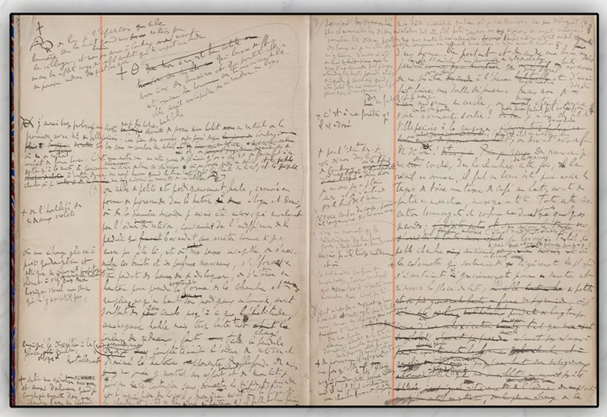 Proust manuscript 'In Search of Lost Time'